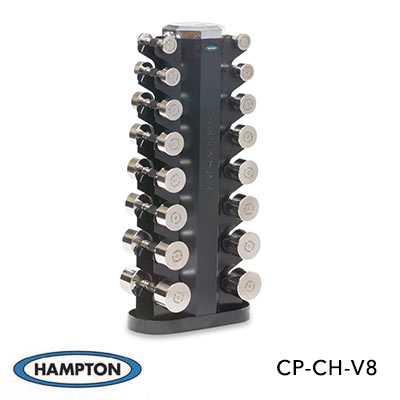 CHROME DUMBBELLS - HORIZONTAL RACKING  - 2